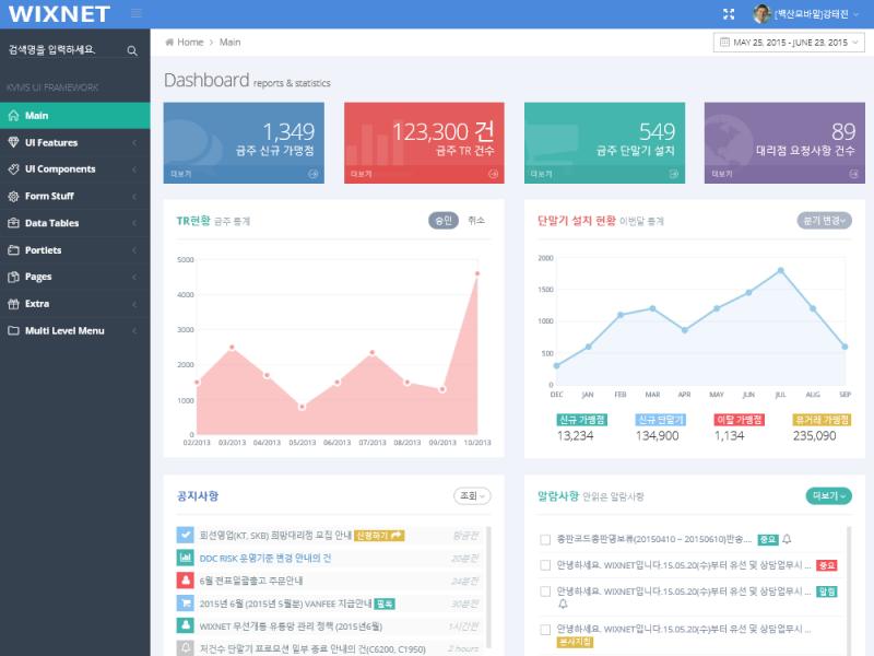 반응형 UI/UX 관리시스템